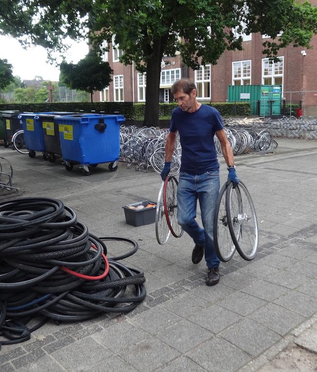 Jan brengt weer wat nieuwe wielen